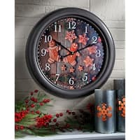 "18"" Round Gingerbread Wall Clock"