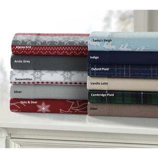 Cozy and Ultra-Soft Flannel Deep Pocket Bed Sheet Set with Oversized Flat