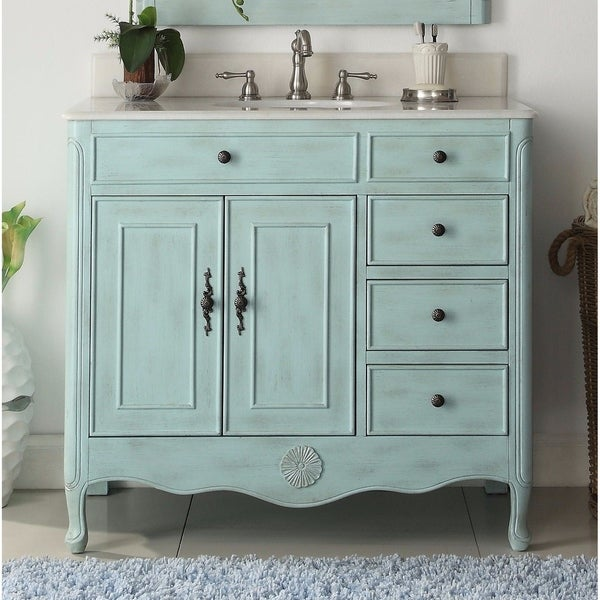 Shop Modetti Provence 38 Inch Single Sink Bathroom Vanity