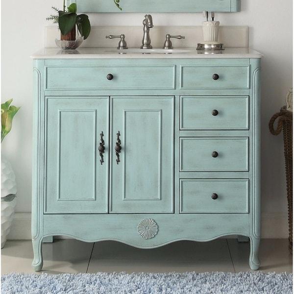 Shop Modetti Provence 38-inch Single Sink Bathroom Vanity ...