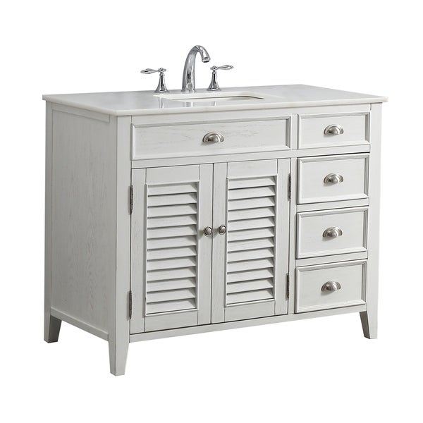Shop Modetti Palm Beach 42 Inch Single Sink Bathroom Vanity With