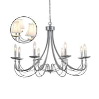 Calloway Hill Iron 8-light Chrome Chandelier