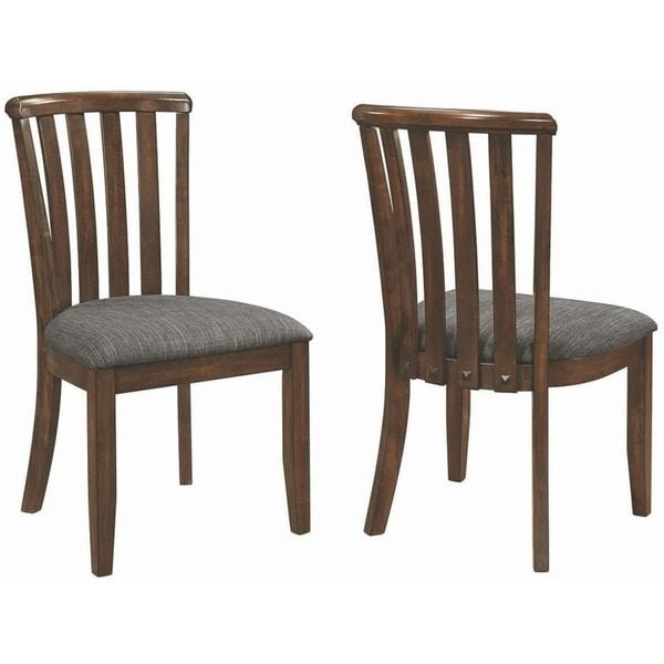 3fc1482e5409 Shop Mid Century Modern Sculpted Slat Back Design Dining Chairs (Set ...