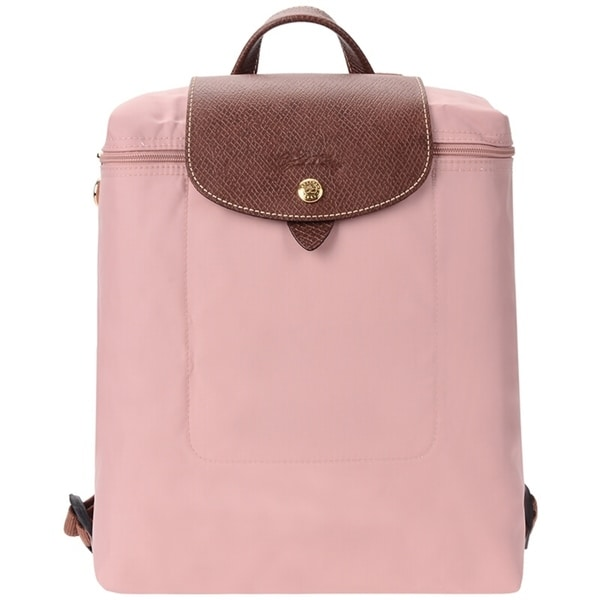 f7ba623be434 Shop Longchamp Le Pliage Nylon and Leather Backpack ROSADO - Free ...