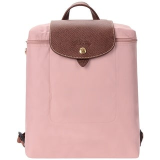 Longchamp Le Pliage Nylon and Leather Backpack ROSADO