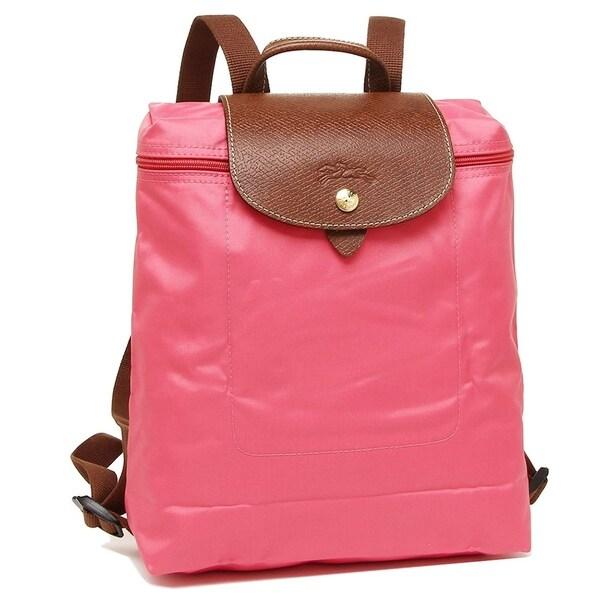 Longchamp Le Pliage Nylon and Leather Backpack FLOWERS