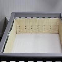 Open Air Vented Crib Bumper or Liner, Vanilla Confetti