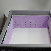 Open Air Vented Crib Bumper or Liner, Lilac Confetti