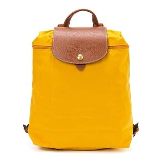 Longchamp Le Pliage Nylon and Leather Backpack AMARILLO