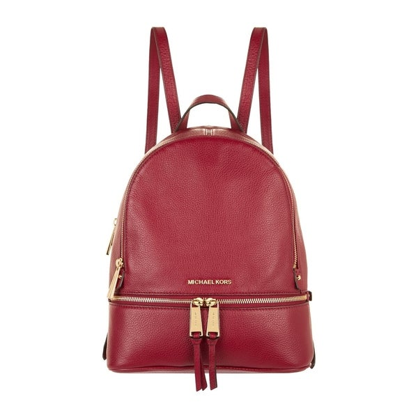 d04f9f247ae0 Shop MICHAEL Michael Kors Rhea Zip Backpack Maroon - Free Shipping ...