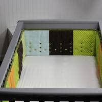 Open Air Vented Crib Bumper or Liner, Patchwork