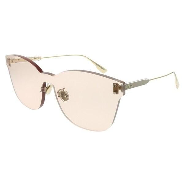 c24c9ab9e5d4 Dior Rectangle Dior Color Quake 2 FWM VC Unisex Nude Frame Light Brown Lens  Sunglasses