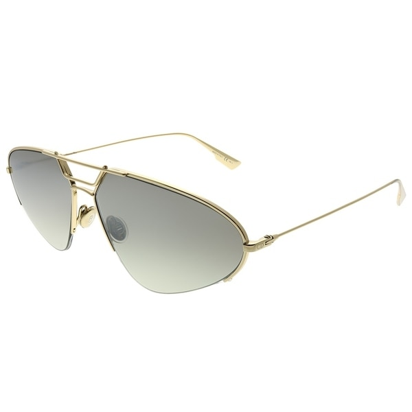 5be8af85ec88 Dior Oval DiorStellaire5 J5G 0T Women Gold Frame Silver Mirror Gradient  Lens Sunglasses