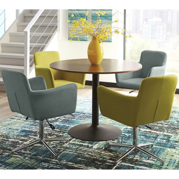 Modern Swanky Retro Design Round 5 Piece Dining Set