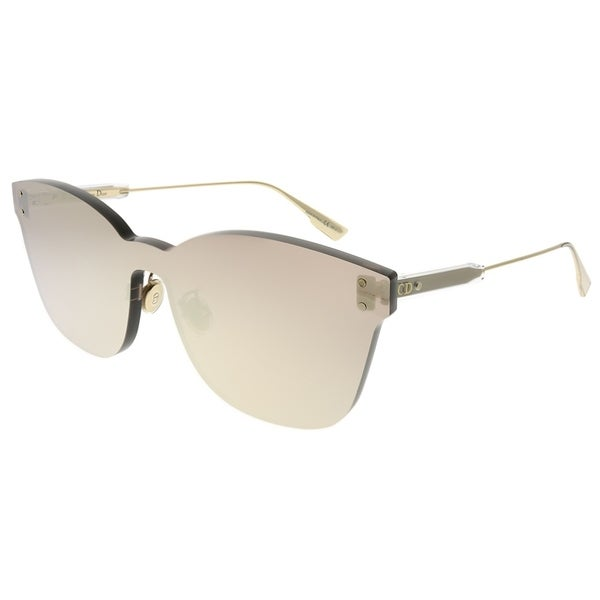 c3b0801ce53 Shop Dior Rectangle Dior Color Quake 2 DDB SQ Unisex Gold Copper Frame Gold  Copper Mirror Lens Sunglasses - Free Shipping Today - Overstock - 24031911