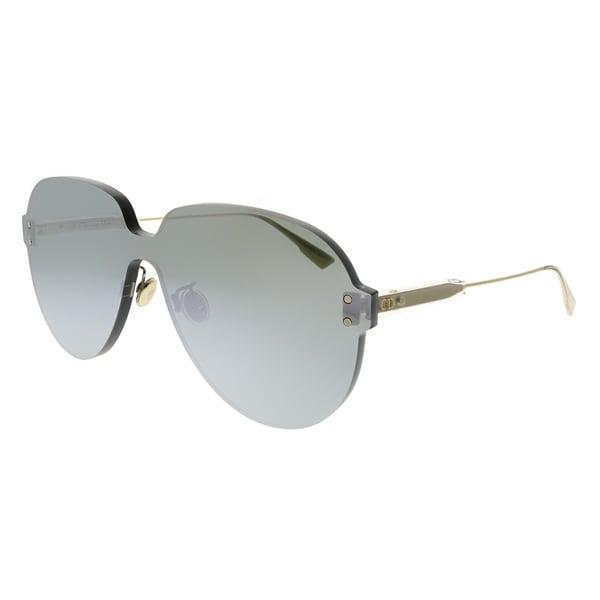 c34ebc5c827 Shop Dior Aviator Dior Color Quake 3 YB7 T4 Unisex Silver Frame Silver  Mirror Lens Sunglasses - Free Shipping Today - Overstock - 24031915