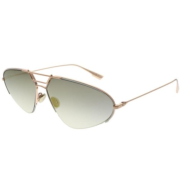 cc79f650b65 Dior Oval DiorStellaire5 DDB WM Women Gold Copper Frame Gold Mirror  Gradient Lens Sunglasses