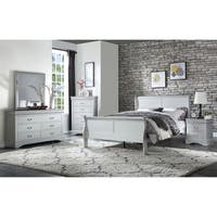 ACME Louis Philippe Twin Bed in Platinum