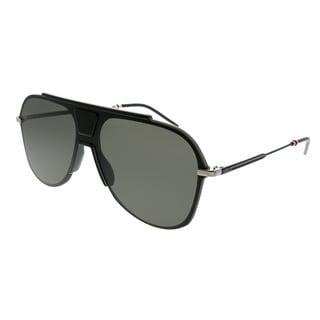 883d42fe9a Dior Homme Aviator Dior 0224S O6W 2K Unisex Black Ruthenium Frame Grey Lens  Sunglasses