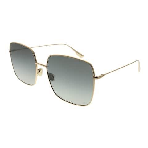 e4a787d334672 Dior Square DiorStellaire 1 000 1I Women Rose Gold Frame Grey Gradient Lens  Sunglasses