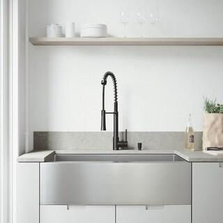 VIGO Bedford Stainless Steel Kitchen Sink Set with Laurelton Faucet