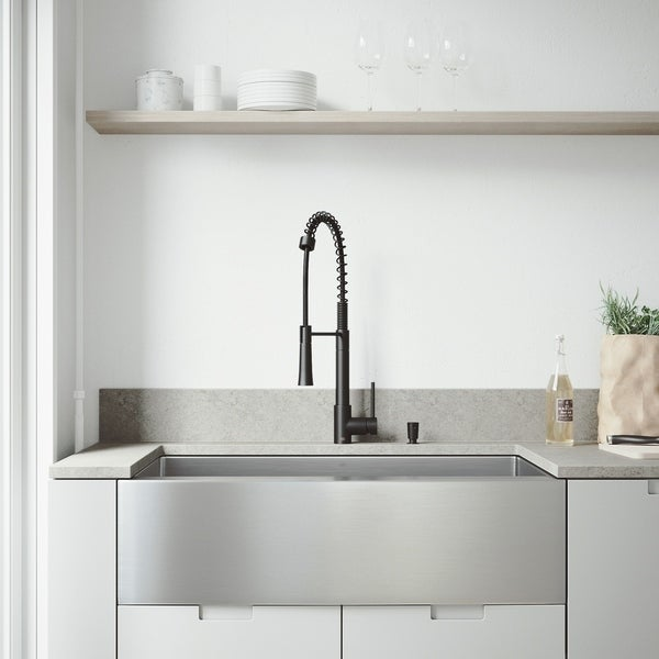 VIGO Bedford Stainless Steel Kitchen Sink Set with Laurelton Faucet. Opens flyout.
