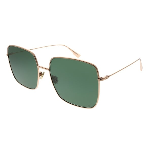 52a0e60d06a5 Dior Square DiorStellaire 1 DDB O7 Women Gold Copper Frame Green Lens  Sunglasses