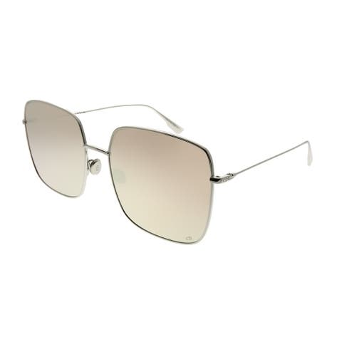 34ff4870a3 Dior Square DiorStellaire 1 010 SQ Women Palladium Frame Pink Mirror Lens  Sunglasses
