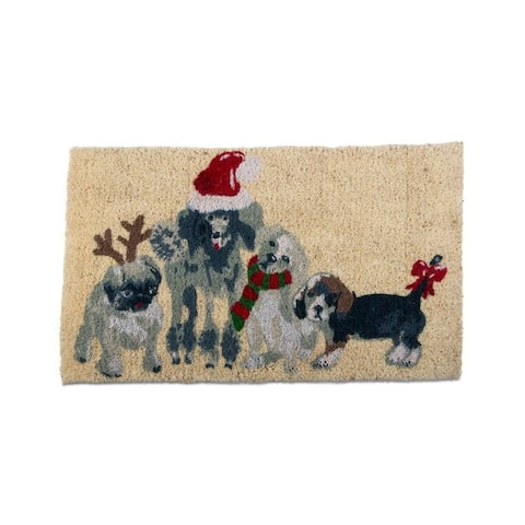 TAG Holiday Dogs Coir Mat Multi