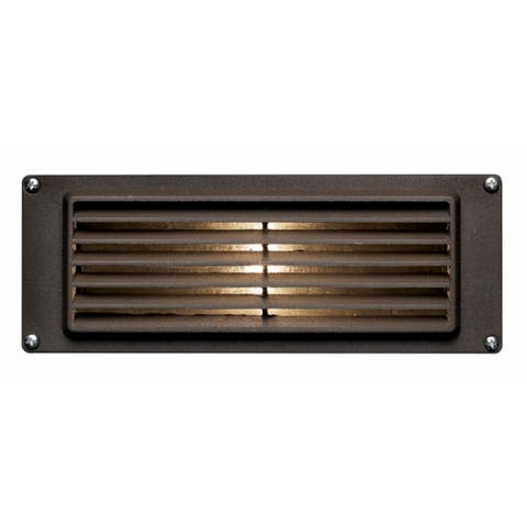 Hinkley Landscape Louvered LED 3.8 Watt Deck Light - Brown