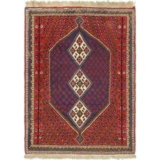 Hand Knotted Maymeh Semi Antique Wool Area Rug - 3' x 4' 10