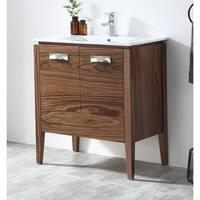 "30"" Tennant Brand Colle American Walnut Finish Bathroom Vanity"