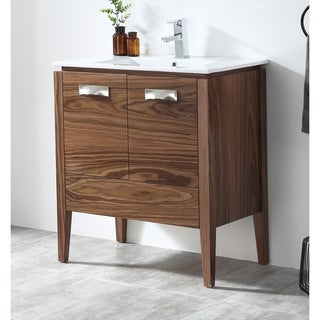 "30"" Tennant Brand Colle American Walnut Finish Bathroom Vanity"