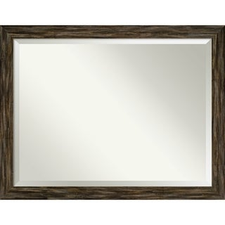Bathroom Mirror, Fencepost Brown Narrow