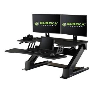 Eureka Ergonomic Gen2 Black Aluminum Standing Desk Converter