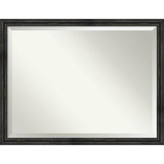Bathroom Mirror, Rustic Pine Narrow Black