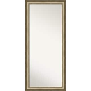 Floor / Leaner Mirror, Mezzanine Antique Silver Narrow: Outer Size 29 x 65-inch - Espresso - 65.38 x 29.38 x 1.166 inches deep