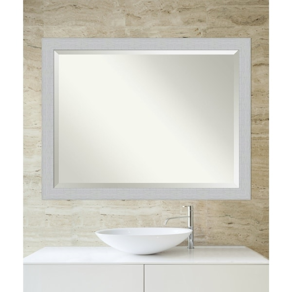 Bathroom Mirror, Shiplap White