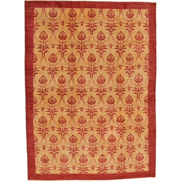 Shop Hand Knotted Modern Ziegler Wool Area Rug 12 X 16 6 On