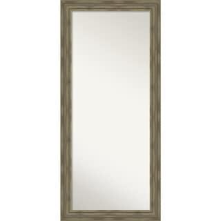 Floor / Leaner Mirror, Alexandria Greywash: Outer Size 30 x 66-inch - Grey - 65.88 x 29.88 x 1.861 inches deep