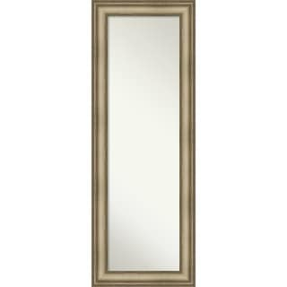 On The Door Full Length Wall Mirror, Mezzanine Antique Silver Narrow: Outer Size 19 x 53-inch