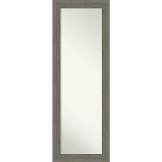 On The Door Full Length Wall Mirror, Fencepost Grey Narrow: Outer Size 19 x 53-inch