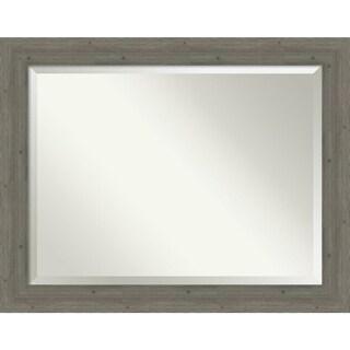 Bathroom Mirror, Fencepost Grey