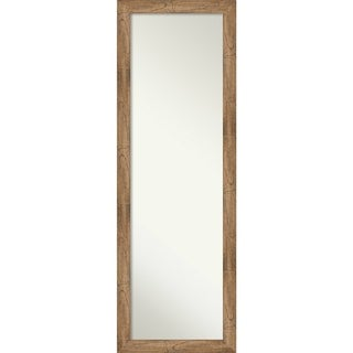 On The Door Full Length Wall Mirror, Owl Brown Narrow: Outer Size 17 x 51-inch - 51.38 x 17.38 x 0.795 inches deep