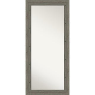 Floor / Leaner Mirror, Fencepost Grey: Outer Size 31 x 67-inch