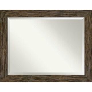 Bathroom Mirror, Fencepost Brown