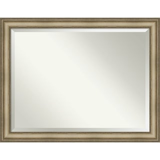 Bathroom Mirror, Mezzanine Antique Silver Narrow
