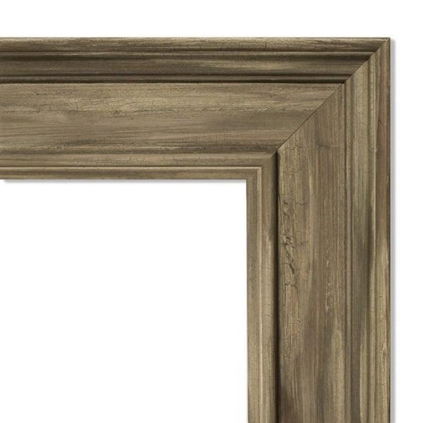 Wall Mirror, Alexandria Greywash - Green/Brown