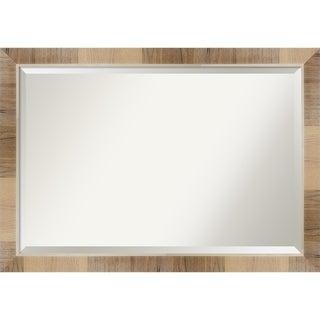 Wall Mirror, Natural White Wash - Brown