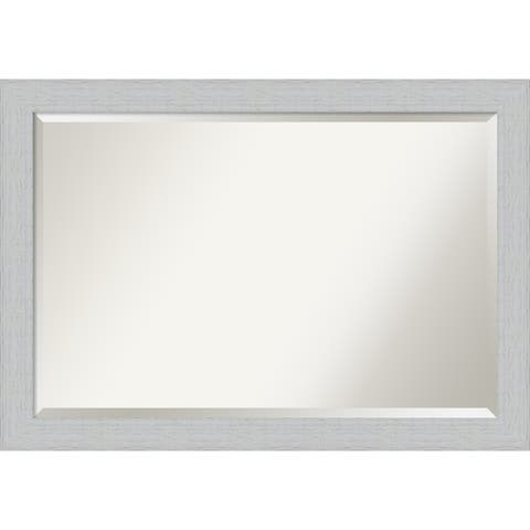 Wall Mirror, Shiplap White